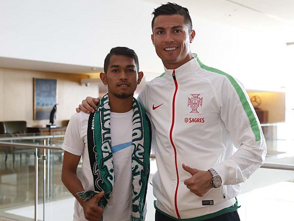 Jadi Pemain Akademi Sporting Lisbon, Martunis Dapat Dukungan dari Ronaldo