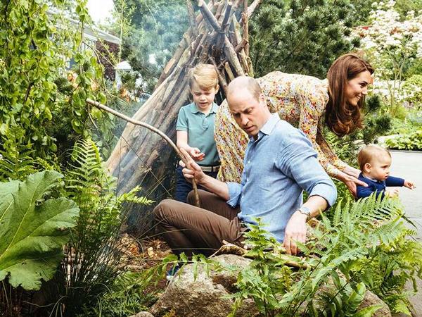 Serunya Pangeran William dan Kate Middleton Ajak Ketiga Anaknya Bermain di Alam Terbuka