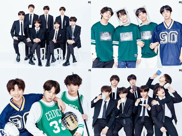 Intip Penampilan Classy dan Sporty BTS dalam 'Foto Keluarga' di Perayaan #2018BTSFesta