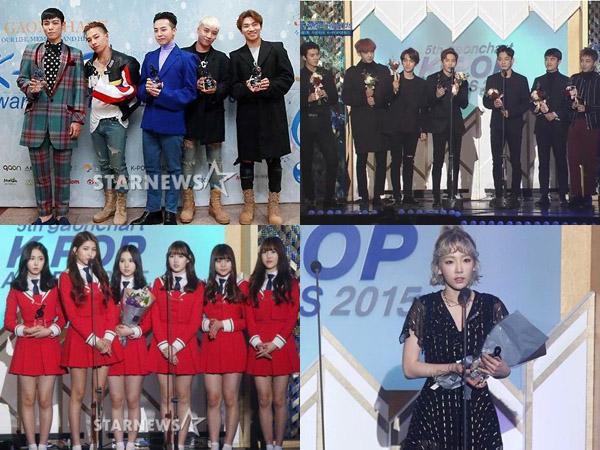 Big Bang dan EXO Berjaya, Ini Para Idola K-Pop Peraih Trofi di '5th Gaon Chart K-Pop Awards'