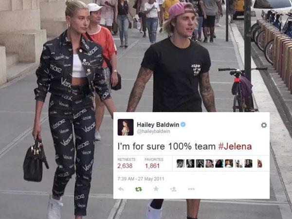 Beredar Banyak Tweet Lama Hailey Baldwin yang Ngefans Pasangan Justin Bieber dan Selena Gomez!