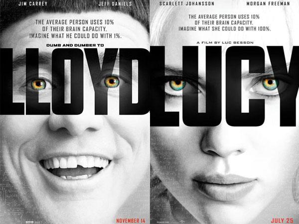 Kocaknya Film 'Dumb and Dumber To' Parodikan Poster Scarlet Johansson di 'Lucy'