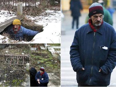Wow, Pria Ini Pilih Tinggal Dalam Liang Kubur
