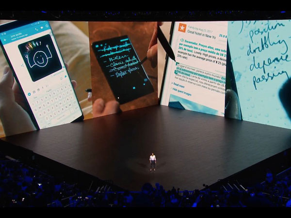 Peluncuran Samsung Galaxy Note 8 Digelar Spektakuler