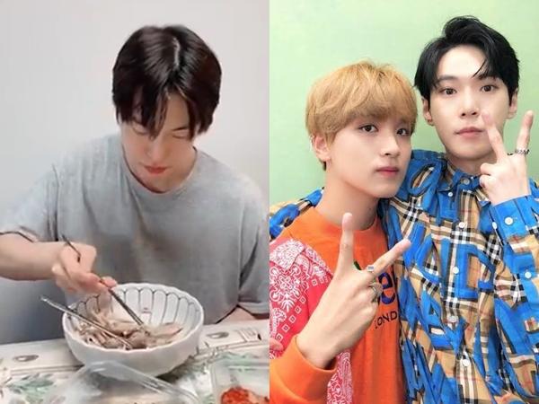 Hari Terpanas Pertama di Korea, Haechan Unggah Video Makan Samgyetang Bareng Doyoung
