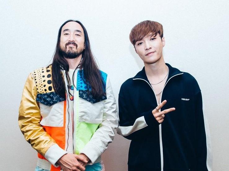 Lay EXO Segera Rilis Lagu Kolaborasi Bareng Steve Aoki dan will.i.am