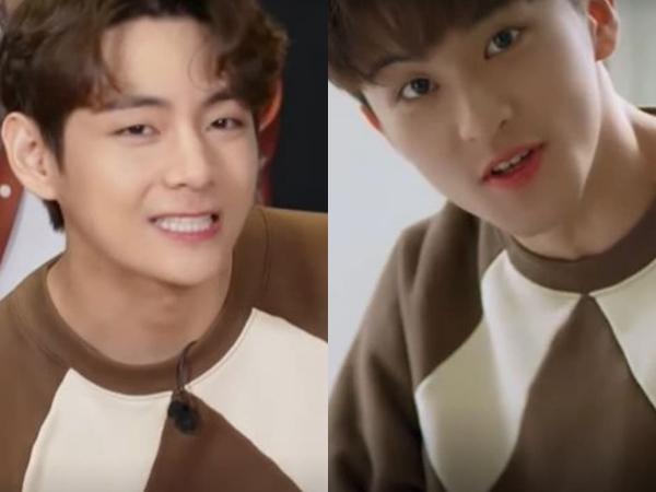Beda Gaya Mark NCT dan V BTS Pakai Sweater Kembar, Pilih Mana?