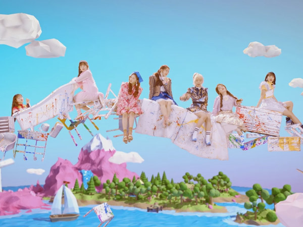Dreamy Bak Negeri Dongeng, Cerianya Oh My Girl Bermain Warna di MV 'Coloring Book'