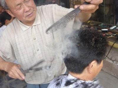 Wah , Bakar Rambut Tehnik Potong Rambut China Kuno