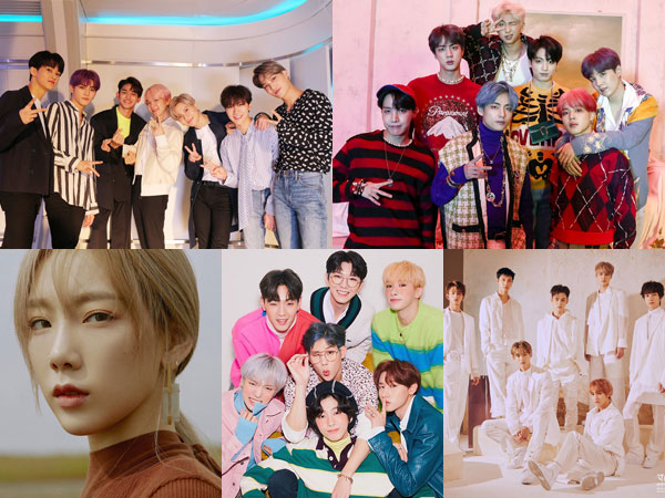 SuperM dan BTS Bertahan, Taeyeon, MONSTA X, dan WayV Debut di Chart Billboard World Albums