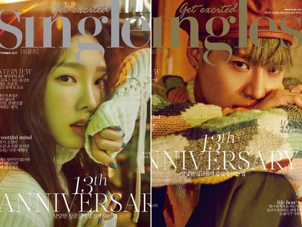 Taeyeon dan Taemin Hiasi Cover Majalah Singles Edisi Anniversary ke-13