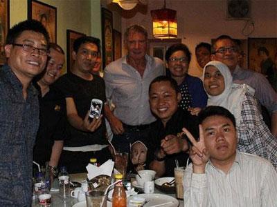 Harrison Ford Sibuk Syuting Film Dokumenter di Jakarta