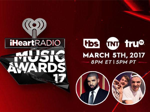 Drake Hingga The Chainsmokers Borong Kategori, Inilah Daftar Nominasi iHeartRadio Music Awards 2017