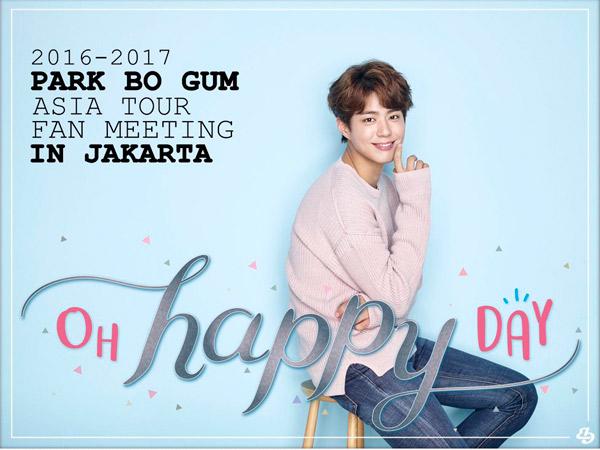 Bertajuk 'Oh Happy Day', Inilah Harga Tiket dan Seatplan Jumpa Fans Park Bo Gum di Jakarta!