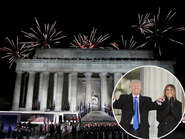 Meski Diboikot, Kembang Api Berpendar Sambut Rangkaian Pelantikan Presiden Donald Trump