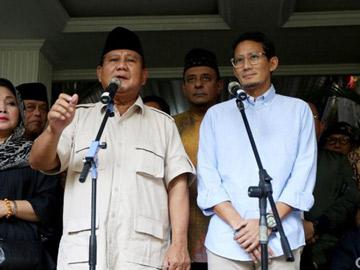 Melihat Dasar Perhitungan Suara Prabowo-Sandi yang Klaim Menang 52%