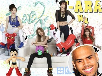 Wah, T-ARA N4 Akan kolaborasi Bareng Chris Brown?