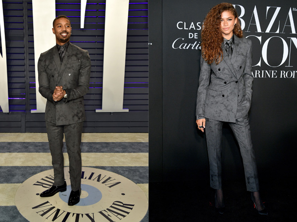 Michael B. Jordan dan Zendaya Pakai Jas 'Kembaran', Who Wore It Better?
