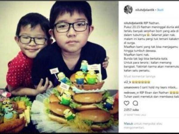 Duka Publik untuk Kakak-Beradik Korban Meninggal Dunia Bom Gereja Surabaya