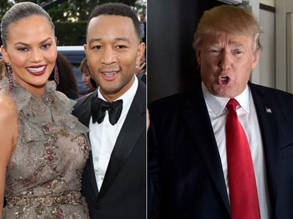 Istri John Legend Diblock Donald Trump di Twitter Gara-gara Tulis Ini