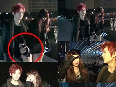 HyunA dan Hyuseung Beast Mesra di Belakang Panggung