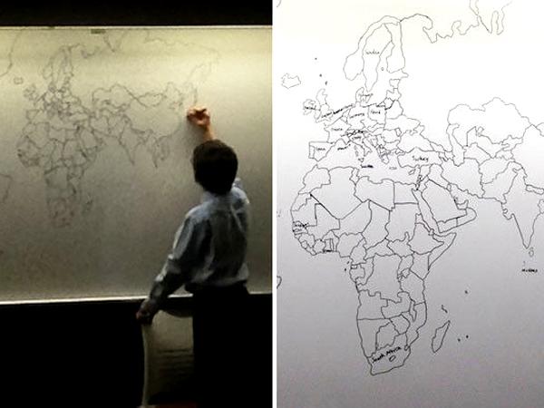 Bocah Autis Ini Mampu Menggambar Peta Dunia Hanya Mengandalkan Ingatan Saja!