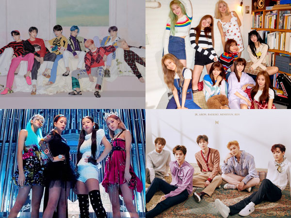 BTS dan BLACKPINK Bertahan, TWICE dan NU'EST Debut di Chart Billboard World Albums