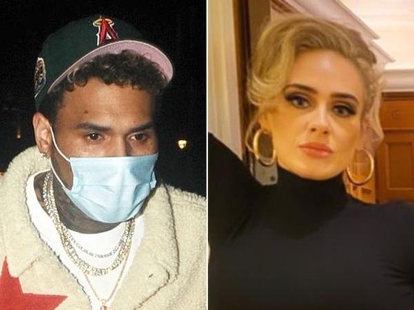 Chris Brown Kepergok Pesta di Rumah Adele