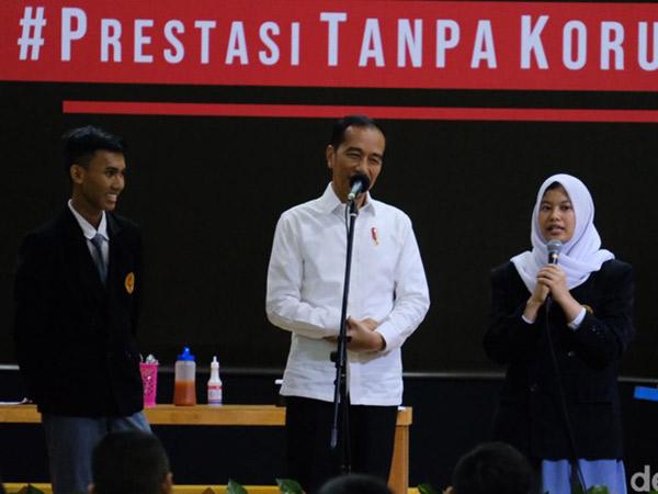 Ditanya Anak SMK Soal Hukuman Mati Bagi Pelaku Korupsi, Ini Jawaban Jokowi