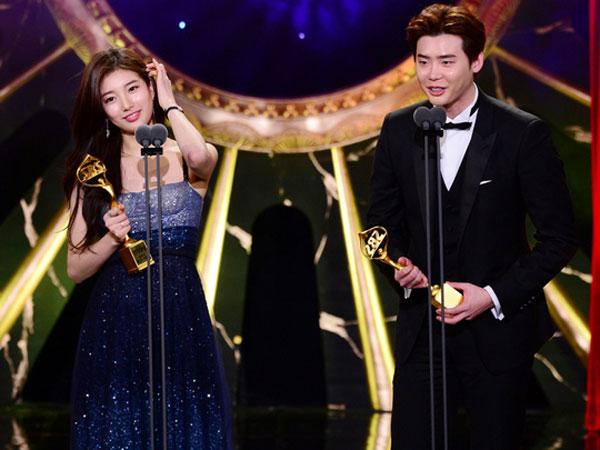 Menang Best Couple, Begini Lucunya Chemistry Lee Jong Suk dan Suzy di Belakang Panggung