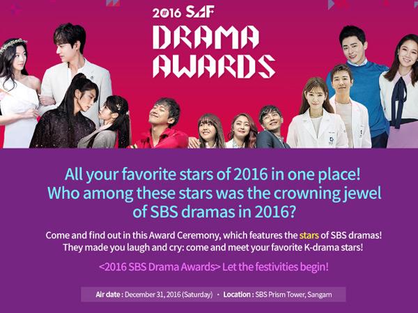 K-Drama Hingga 'Pasangan Seleb' Ini Masuk Nominasi Penghargaan '2016 SAF Drama Awards'!