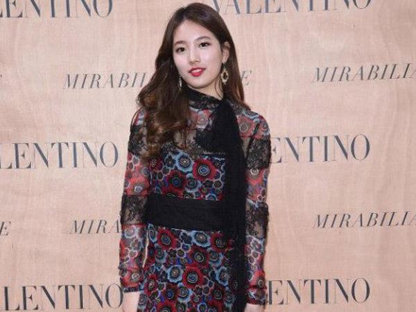 Suzy miss A Tampil Stunning dalam Event Fashion Show Valentino di Roma