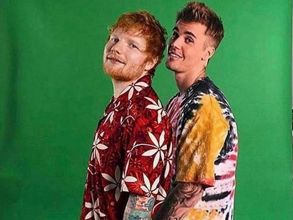 Misteri Kode '10' Terpecahkan, Ed Sheeran dan Justin Bieber Siap Rilis Lagu Kolaborasi!