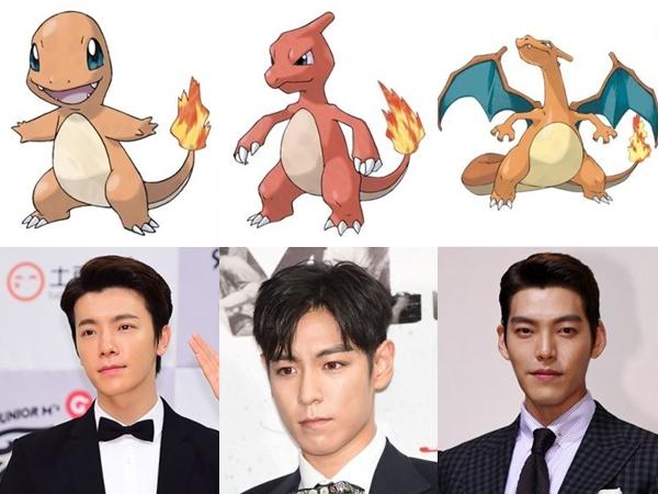 Wah, Wajah Para Seleb Pria Korea Ini Mirip Evolusi Pokemon Charmander!