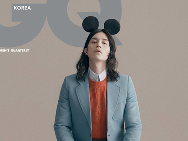 Lee Dong Wook Jadi Mickey Mouse di Pemotretan Man of the Year 2019 GQ Korea