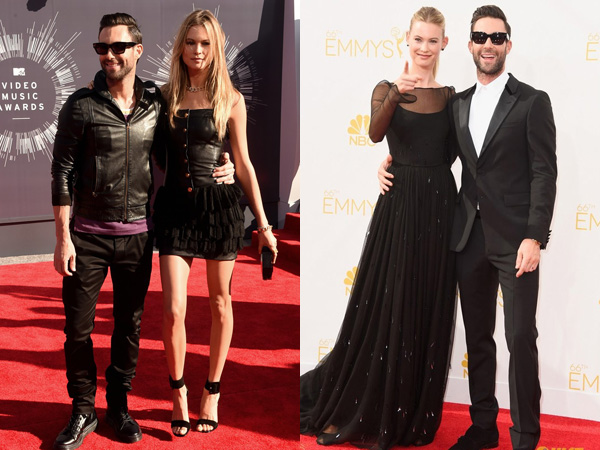 Gaya Kompak Adam Levine & Behati Prinsloo di MTV VMA vs Emmy Awards, Mana Lebih Modis?