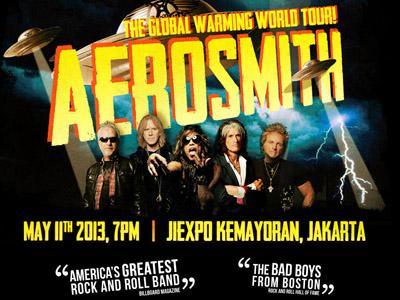 Wah, Konser Aerosmith di Jakarta Dibatalkan!