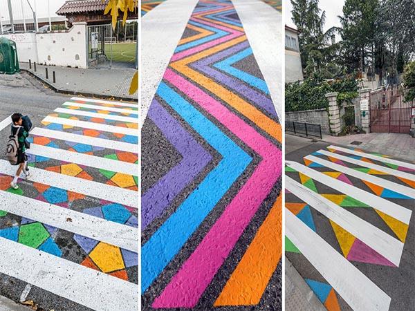 Keren, Zebra Cross Ini Berubah Menjadi Seni Yang Menakjubkan