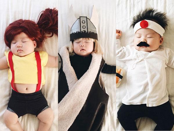 Bak Cosplay, Fotografer Ini 'Sulap' Penampilan Anaknya yang Tengah Tidur
