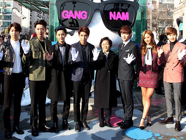 Idola K-Pop SM dan FNC Entertainment Berkumpul Rayakan Pembukaan 'K-Star Road'