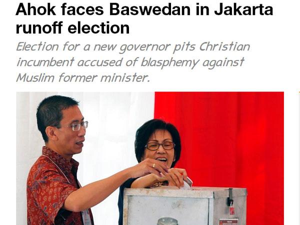Media Asing Ikut Soroti Pilkada DKI Jakarta 2017 Putaran Kedua