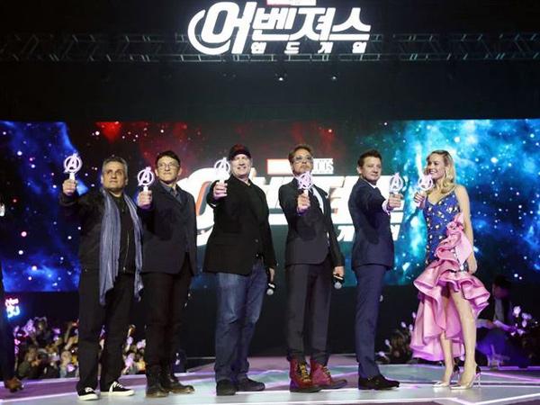 Serunya Pemain 'The Avengers: Endgame' Sapa Fans di Korea, Mirip Konser K-Pop!