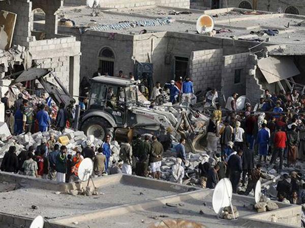 Serangan Saudi di Yaman Hantam Pesta Pernikahan, 130 Orang Tewas