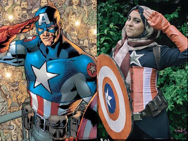 Eksis di Comic-Con, Cosplay Captain America Berhijab Jadi Viral Di Dunia Maya!