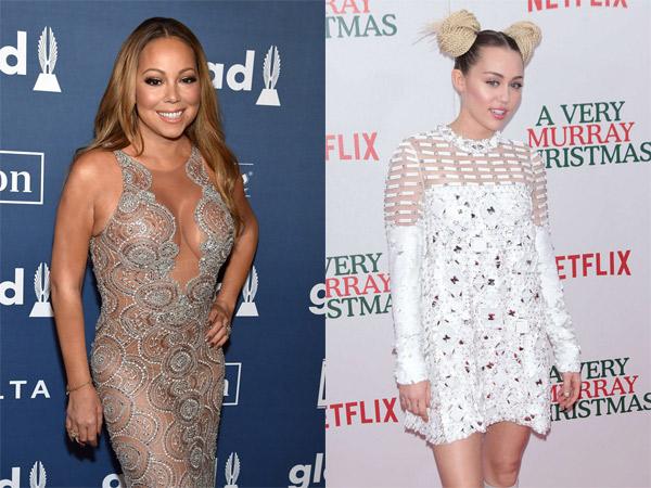 Kembali Buat Heboh, Miley Cyrus Sebut Dirinya Bukanlah Fans Mariah Carey