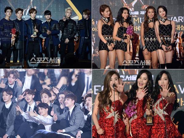 Didominasi Artis SM, Inilah Para Idola K-Pop Peraih Trofi Kemenangan di '24th Seoul Music Awards'
