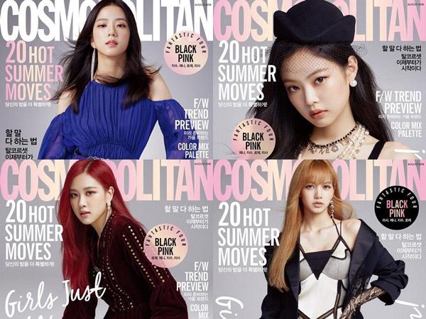 Gaya Chic BLACKPINK Hiasi Empat Cover Individu Edisi Terbaru Cosmopolitan Korea