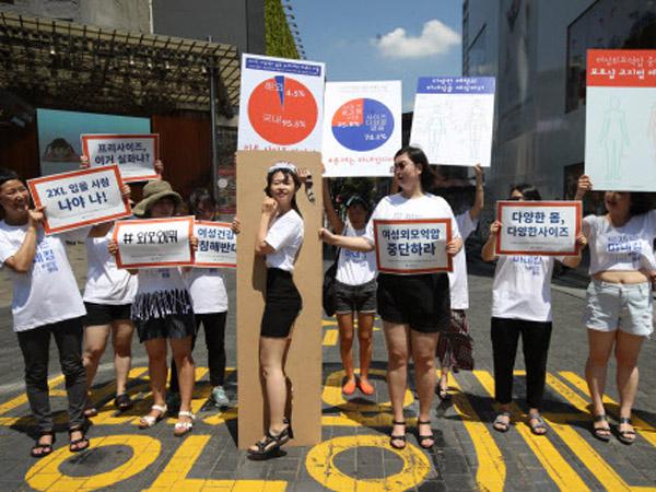 Warga Korea Demo Tuntut Perbanyak Ukuran Baju untuk Tekan Tingkat Stres, Apa Hubungannya?