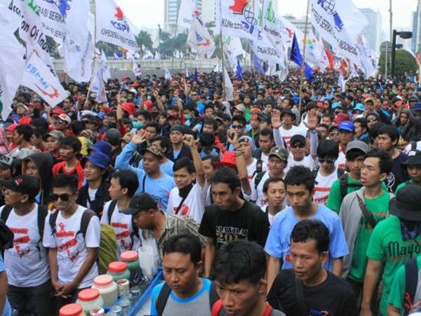 Buruh Siap Demo 1 Mei, Belasan Ribu Personel Dikerahkan Untuk Amankan 'May Day' di Jakarta