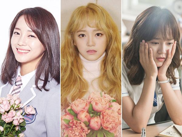 IOI, gugudan, Hingga 'School 2017', Jalan Berbunga yang Ditapaki Kim Sejeong